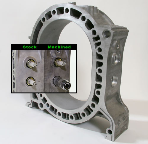 rotary engine porting templates - 13b rew rotor housing rear